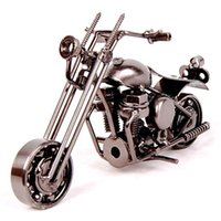 Wholesale Home Furnishings Sale - 2016 hot sale 1pcs New arrival wrought iron Motorcycle model, home furnishings, Decoration, creative birthday gift