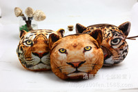 Coin Purses Women Multi 2016 new coin purses wallet ladies 3D printing cartoon Lion tiger leopard animal big face fashion cute zipper bag for women