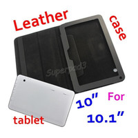 Wholesale tablet a83t resale online - Cheap PU Leather Protective Tablet Case For For A33 A83T Inch Solid Black Folding Folio Cover DHL Freeshipping