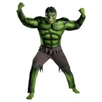 Wholesale adult Halloween costume sales of muscle male hulk comic superhero movie cosplay costume clothes avengers