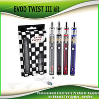 Wholesale Twist Tank - Original Evod Twist III Starter Kit with M16 Atomizer 2ml BDC Coil Tank 1600mAh battery Built In Capacity 100% genuine DHL Free 021123