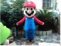 Wholesale Super Marie - Large Deluxe L super Mario brothers mascot costume adult beautiful evening dress super Marie mascot costume, free shipping
