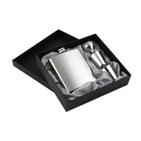 Wholesale Whisky Hip Flask Gift Set - 7 oz Stainless Steel Hip Flask Sets jack Flagon With Funnel Cups wine Whisky Hip Flask Portable Flagon bottle Gift Box Packing wa4065