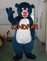 Wholesale Big Bear Costume - Wholesale-Big Bear Mascot Costume Adult Size Fancy Dress Cartoon Character Party Outfit Suit Free Shipping