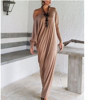 Wholesale New Chiffon China - Plus Size Womens Sexy Casual Long Sleeve Maxi Dresses Loose Party Long Dress New Style From China