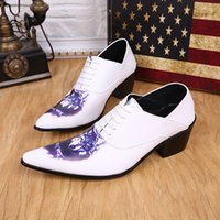 Wholesale Young Office Fashion - United Kingdom style outdoor casual hiking shoes White Leather men's shoes men's fashion tip toe dance shoes dance of young animal prints