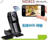 Wholesale Security Wireless Camera Iphone - MD81S Mini Portable Wifi IP Camera Wireless Video Camcorder Cam data Recorder for Iphone Android Personal body Security