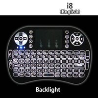 Rii I8 + Wireless retroilluminazione mini tastiera Air mouse Multi-Media Remote con il Touchpad tenuto in mano per MXQ Pro T8 T95 M8S Inoltre S912 TV Box