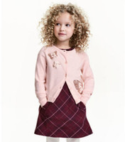 Wholesale Cardigan Butterfly Knitted - Kids sequins sweater girls colorful butterfly horse knitted long sleeve cardigan coat children cute polka dots princess sweater jacket R0360