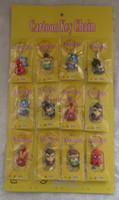 Wholesale Batman Sheets - 24 pcs 2 Sheets Superheroes Spiderman Thor Batman Iron Man Captain America Hulk Soft Rubber Phone Keychains Pendants
