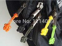 Wholesale Wholesale Zipper Pulls - 50Pcs Lot Handmade Paracord Zipper Pulls Knife Lanyard Zip Puller For Outdoor Hiking Camping Backpack Survival Gear Kit SLD