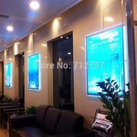 Wholesale Wall Mount Display Frames - Large Size Wall Mount Acrylic Poster Frame LED Edge-lit Advertising Display Light Box