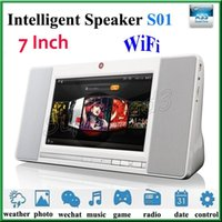 Wholesale Intelligent Internet - New Tablet Bluetooth Speaker S01 7 Inch 1024*600 Wireless Stereo Speaker Intelligent Internet Subwoofer with WiFi Front Camera 2MP