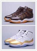 Wholesale Chocolate Box Pvc - 2018 with box XI 11 72-10 Chocolates High CLOSING CEREMONY Gold men basketball shoes 11s sneakers mens sports shoes wholesale us 7-13