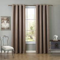 Wholesale Brown Sheer Curtains - 135*260Cm Bedroom Curtains Blakout Window Curtain Shading Drapes Sheer Curtain Brown Grey Beige Colors Multiple Sizes Wholesale