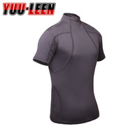 Wholesale Evil Cosplay Costume - Wholesale-Free Shipping High Quality Resident Evil 4 Biohazard Leon Kennedy Grey Spandex Fabric Tee T Shirt Cosplay Costume for summer