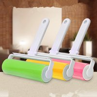 Wholesale roller for clothes for sale - Group buy Electrostatic Lint Rollers Brushs For Home Cleaning Tool Sticky Roller Brush Easy To Clean Multi Color rr C R