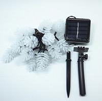 ingrosso coni esterni-Impermeabile LED String Pigna di Natale Luci Solare Garland Luminaria Outdoor Led Luci da pannello solare