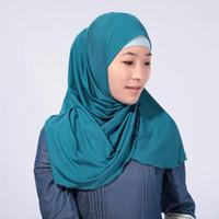Wholesale Knitting Beads Scarf - 2016 New Fashion Islamic Turban muslim hijab Women's Maxi Scarf Head Wrap 60-80cm min20