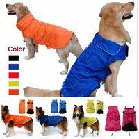 Wholesale Nylon Dog Coats - Pets Apparel Dog Clothes Waterproof Jackets Durable Soft Comfort Nylon Dog Jumpsuits Vest Design Cloth Multi Colors Size XS S YYA344