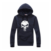 sport sweaters for men - Men s Sports Punisher Skull Printed Sweatershirt Sweater Long Sleeve Hooded Colors Jacket Pullover For Outdoor Sport Clothing