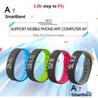Wholesale Best View Monitor - new Smart Bracelet A7 live viewing Fitness Tracker reloj bracelet band sleep monitor for android phone and PC best gift