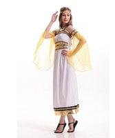 Wholesale Sexy Cleopatra Costumes - Halloween Exotic Adult sex Cleopatra Costumes Sexy Women Egyptian Pharaoh Cleopatra Cosplay Stage Performance Masquerade Party