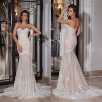 Wholesale tull wedding dresses sleeves - 2016 Hot Sale Sweetheart Wedding Dress Lace Tull Appliques Bridal Wedding Dresses Mermaid Floor Length Chapel Train Bridal Gown