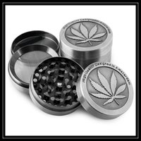 Wholesale Metal Maple Leaf - 4 Parts Amsterdam Grinders 4pc Metal CNC Grinder 40mm 50mm For Tobacco Smoking Maple Leaf Shape Dry Herb Grinder Zinc Alloy Metal Crushers