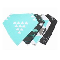 Wholesale Baby Boy Burp Clothes - 4pcs Baby waterproof triangle towel bibs Pure cotton girls boys double layer triangular towel Drool Bib burp clothes