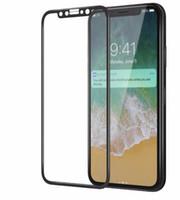 ingrosso colore della copertura dello schermo iphone-Per iPhone 8 Plus iPhone X Pellicola salvaschermo con schermo morbido in vetro temperato a colori Full Cover per iPhone8 7 Plus con confezione