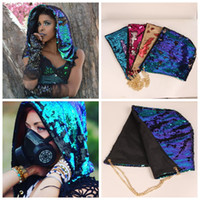 Wholesale Tall Casual Dress - Mermaid Sequin Hats Magical Reversible Sequin Cap Halloween Dress Up Color Changing Hat Costume Caps Head Hood Novelty 100 pcs YYA834