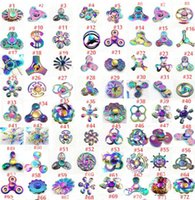 Wholesale Wholesale Spinning - High quality new Rainbow metal Fidget Spinners Hand Spinners Finger EDC Toys Spins Spiral Gyro EDC Fidget With Box