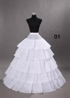 Wholesale dress underskirts - Wedding Petticoats Hoops Ball Gowns Underskirts for Wedding Bridal Dresses Plus Size Crinoline Petticoat Free shipping WS004