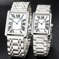 Wholesale best watch bands for men resale online - ultra thin lovers men women watches luxury Full Stainless Steel band quartz brand wrist watch for man lady best Valentine Gift relogios