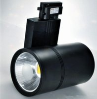 venta de luces de pista al por mayor-Venta caliente LED Track Light 30W COB luces de carril Spotlight Igualdad 300W lámpara halógena Ropa Shop Zapato Tienda AC85 ~ 265V Warm Cold Natural White