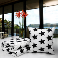 Wholesale car quilts online - cotton fabric pillow function cushion star and stripe designs cotton fabric bedroom plane car and office nessecery blanket and quilt