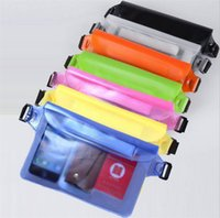 Wholesale apple iphone size - 2017 Summer big size PVC waterproof Waist bag Pouch Outdoors drift swimming sports 3 layer sealed pocket For iphone 6s plus Note 5 ipad mini
