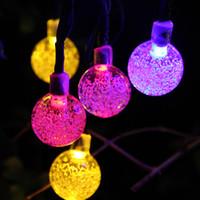 dış mekan yılbaşı dekorasyonları güneş aydınlatma toptan satış-LED Dize Işıklar LED Güneş 6 M Ile Yüksek Parlak Dış Aydınlatma Su Geçirmez Peri Işıkları Noel Partisi Dekorasyon Için