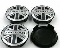 Wholesale Wholesale Hub Covers - 4pcs 58mm OEM quality England flag Wheel Center Covers Hub Caps Emblem For Jaguar XF XJ F-Type XKR S TYPE X TYPE XJ8 XK8