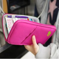 Wholesale Travel Case For Passports - For iphone 7 samsung S7 New Passport Holder Organizer Wallet multifunctional document package candy travel wallet purse card holder 100PCS