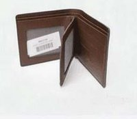Wholesale Leather Vests For Men - Brand 2017 Men's Wallet Fine Bifold Brown genuine Leather Money Purse vest Wallet Men Women Wallet For General