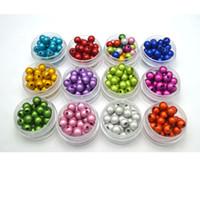 encantos de plastico plano al por mayor-200 unids / lote acrílico suelto perlas ilusión 3D milagro granos redondos 6 mm joyería Craft DIY