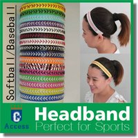 Wholesale Yellow Leather Softball Headbands - 2017 Quality real leather yellow fast pitch softball seam headbands red arrow head