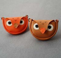 Wholesale Wholesale Owl Accessories Kids - Kids purse children bags Boys Girls cute owl bags Kids PU one shoulder card bags Fashion New Children mini message accessories A9086