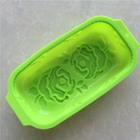 Wholesale Rose Shaped Silicone Mold - Rose Shape Cake Mold Silicone DIY Toast Box Heat Resisting For Kitchen Bread Mould Easy To Clean 7 3xg C R