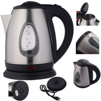 Wholesale Hot Water Heater Tea - New 1500W 1.8 Liter Electric Kettle Tea Hot Water Boiler Heater Stainless Steel