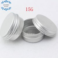 Wholesale Cosmetic Tin Cans Wholesale - Wholesale- Silver Cosmetic Cream Aluminum Tin,Cosmetics Tin Metal Cans,Small Sample Makeup Container, Empty Cosmetics Packaging Container