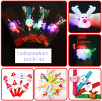Wholesale Multi Ribbon Bracelet - Christmas ornaments Kids Christmas gift Watch Bracelet Wrist Strap Christmas Supplies Decoration Gift for Children Santa Claus Snowman Deer