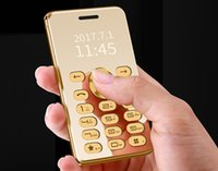 Wholesale mini cell phones for sale - Fast new arrival full metal gold luxury mobile phone mini card cell phone unlocked with call answear MP3 MP4